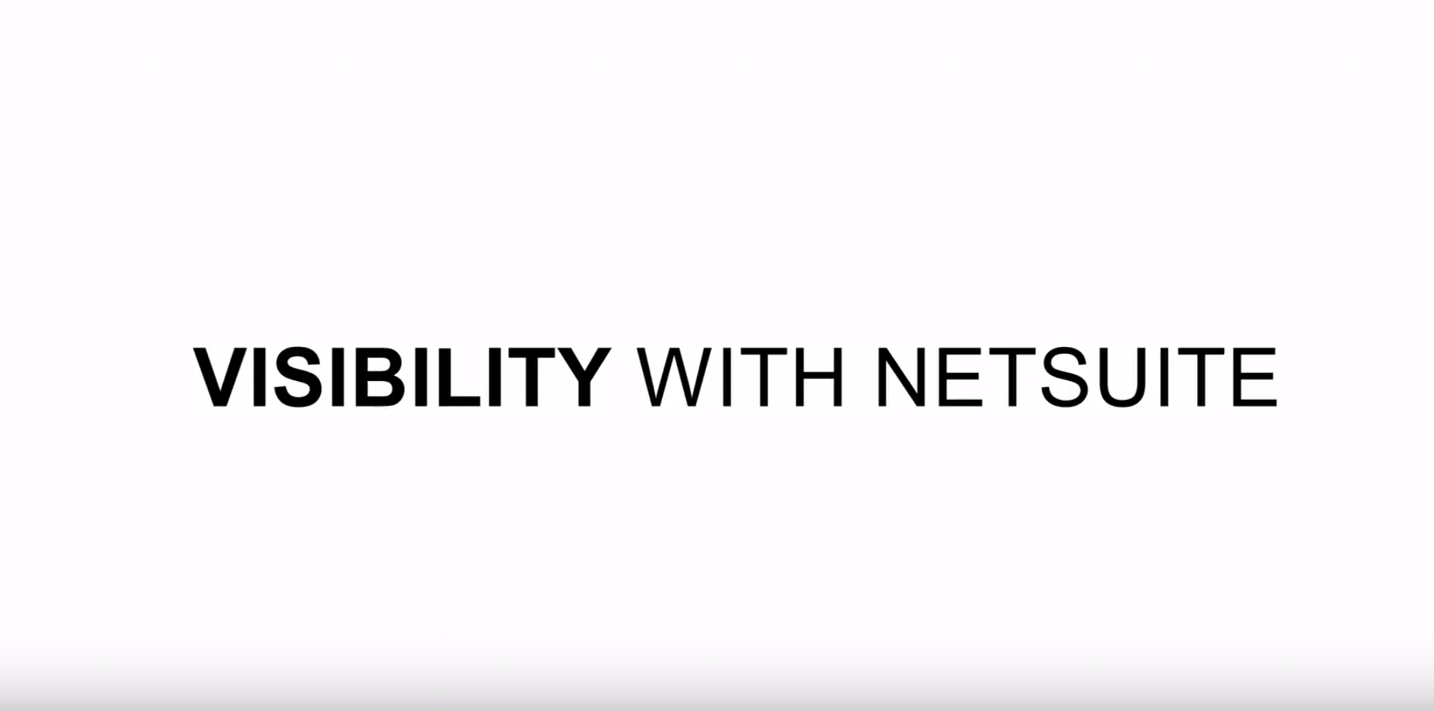 visibility-netsuite