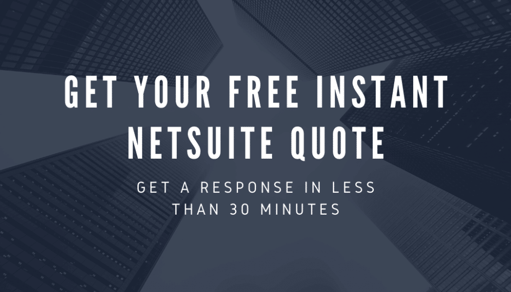 Get NetSuite Implementation Quote